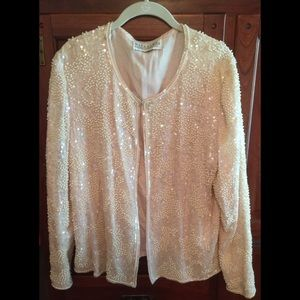 Pink Pearl and Sequin Evening Jacket 💃🍸🎼